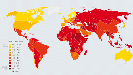 CPI 2010 Map